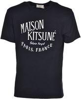Kitsune Maison Logo Printed T-shirt