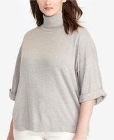 Lauren Ralph Lauren Plus Size Jersey Short-Sleeve Turtleneck