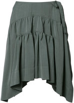 J.W.Anderson Drape Mini skirt - women - Silk/Viscose - 10