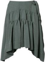 J.W.Anderson Drape Mini skirt - women - Silk/Viscose - 8