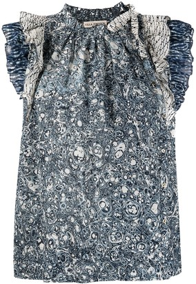 Ulla Johnson Paisley-Print Ruffled Blouse