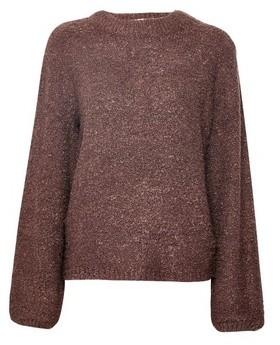 Dorothy Perkins Womens **Vila Brown Knitted Funnel Neck Jumper, Brown
