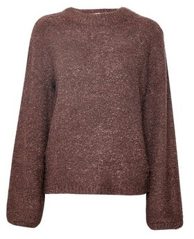 Dorothy Perkins Womens Vila Brown Knitted Funnel Neck Jumper, Brown
