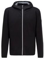 Boss Packable waterproof jacket in bi-stretch merino wool