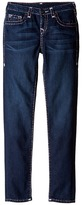 True Religion Casey White and Pink Combo Super T Jeans in Tear Drop Blue (Big Kids)