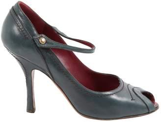 Louis Vuitton Green Leather Heels