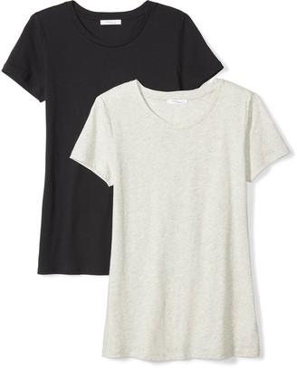Daily Ritual Women's Featherweight Cotton Short-Sleeve Crew Neck T-Shirt