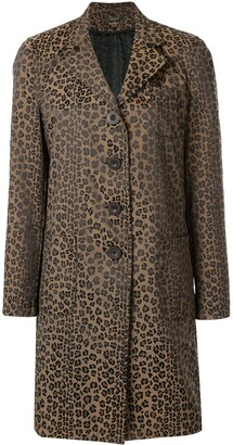Fendi Leopard Long Sleeve Coat