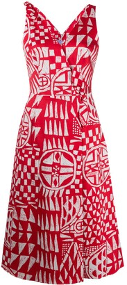 Stella Jean Geometric Print Midi Dress