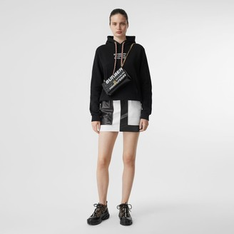 Burberry Embroidered ogo Cotton Oversized Hoodie