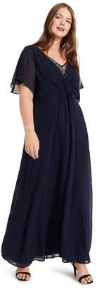 Studio 8 Womens Blue Albertina Maxi Dress - Blue