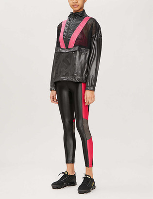 Koral Tribe mesh-panel shell jacket