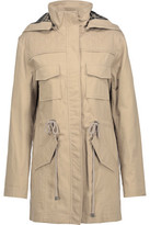 Alice + Olivia Atticus Cotton-Blend Hooded Jacket