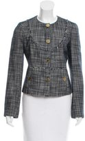 Tory Burch Fringe-Trimmed Button-Up Jacket