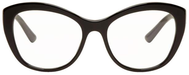 Dolce & Gabbana Black Cat-Eye Glasses