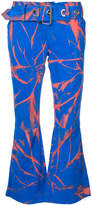 Marques Almeida Marques'almeida flared splatter print trousers