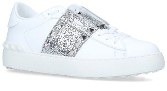 Valentino Garavani Glitter-Embellished Untitled Sneakers