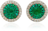 Martin Katz Emerald & Diamond Target Stud Earrings
