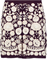 Needle & Thread Embellished chiffon shorts