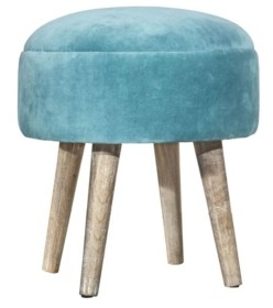 Hillsdale Upholstered Backless Pouf Non-Swivel Vanity Stool