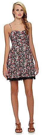 B. Darlin Spaghetti-Strap Floral Dress
