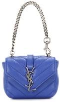 Saint Laurent Mini Collège Chain Wallet Quilted Leather Handbag