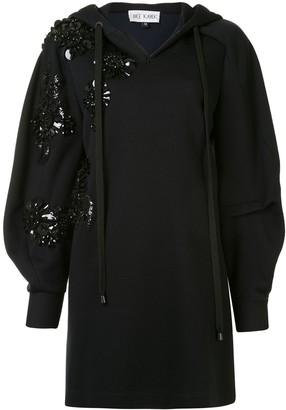 Dice Kayek Jet Stone Hooded Sweater Dress