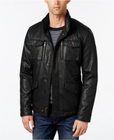Tommy Hilfiger Men's Faux-Leather Field Jacket