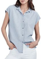 Velvet by Graham & Spencer Striped Fringed Shirt