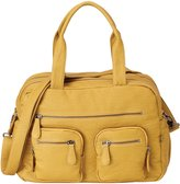 OiOi Faux Buffalo Carryall Diaper Bag - Mustard