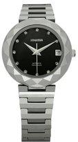 Jowissa Women's J1.170.M Soletta Automatic Black Dial Tungsten Bracelet Date Watch