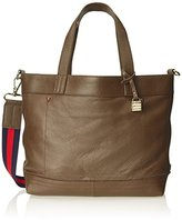 Tommy Hilfiger Signature Conertible Pebble Leather Convertible Travel Tote
