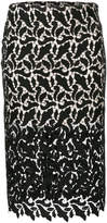 Emporio Armani sheer lace pencil skirt