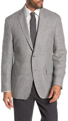 Hart Schaffner Marx Two Button Notch Collar Linen Sport Coat