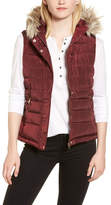 Dorothy Perkins Faux Fur Trim Hooded Puffer Vest