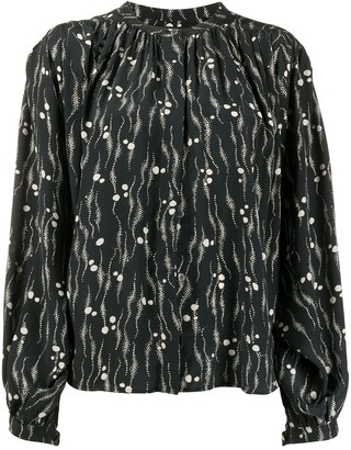 Isabel Marant Abstract-Print Blouse
