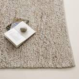 west elm Mini Pebble Wool Jute Rug - Natural/Ivory