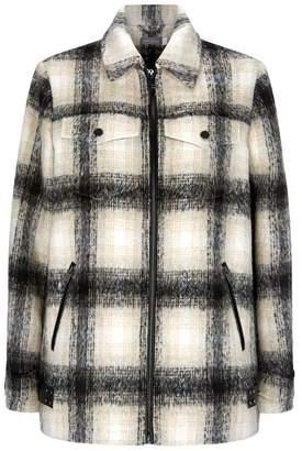 Mint Velvet Cream Lumberjack Jacket