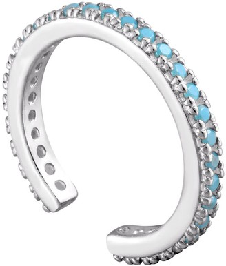 Seol + Gold Sterling Silver Turquoise Cz Cuff Earring