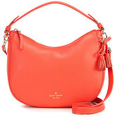 Kate Spade Hayes Street Collection Small Aiden Tasseled Bow Hobo Bag