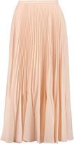 Raoul Printed plissé-georgette midi skirt