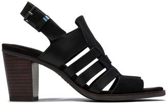 Toms Black Majorca Woven Sandal