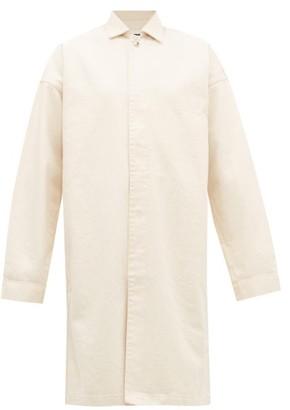Jil Sander Oversized Denim Coat - Ivory