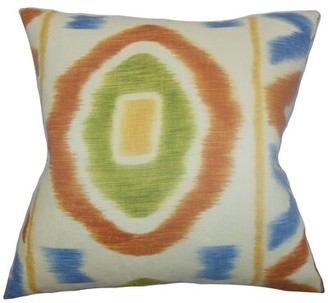 The Pillow Collection Rivka Geometric Throw Pillow Cover Color: Adobe