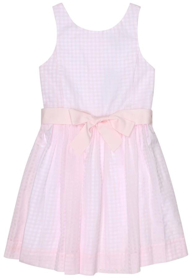 Polo Ralph Lauren Kids Gingham cotton-blend dress