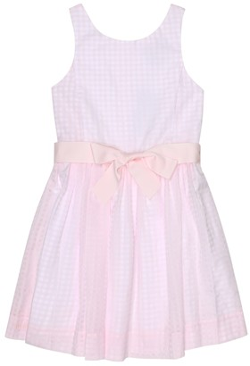 Polo Ralph Lauren Kids Gingham cotton-blend dress