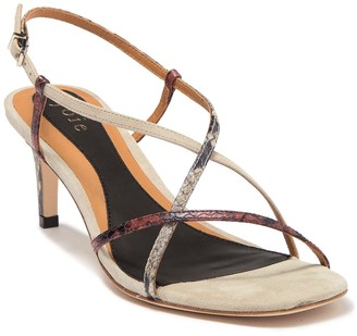 Joie Malou Strappy Snakeskin Embossed Leather Sandal