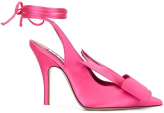 ATTICO Bow-Detail Pointed Pumps