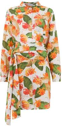 Isolda printed long line shirt