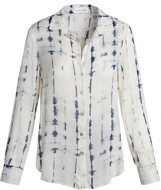 Bella Dahl Flowy Button Down Blue Tie Dye - S